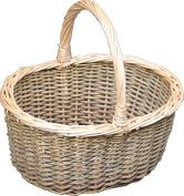 Red Hamper Large Green Willow Hollander Shopping Basket, Wicker, Brown, 32 x 40 x 15 cm