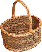 Red Hamper Yorkshire Oval Shopping Basket, Wicker, Brown, 31 x 39 x 20 cm