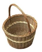 Red Hamper Apple Shopping Basket, Wicker, Brown, 38 x 38 x 23 cm