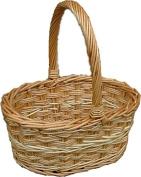 Red Hamper Chiltern Shopping Basket, Wicker, Brown, 25 x 36 x 17 cm