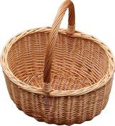 Red Hamper Jumbo Buff Hollander Shopping Basket, Wicker, Brown, 36 x 46 x 21 cm