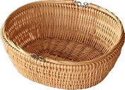 Red Hamper Oval Market Shopping Basket, Wicker, Brown, 42 x 50 x 17 cm