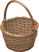 Red Hamper Small Rustic Apple Shopping Basket, Wicker, Brown, 28 x 28 x 16 cm