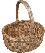 Red Hamper Buff Hollander Shopping Basket, Wicker, Brown, 30 x 38 x 20 cm