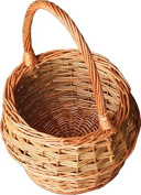 Red Hamper Small Rustic Egg Shopping Basket, Wicker, Brown, 21 x 21 x 16 cm