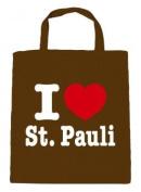 Cotton Bag Shopper - I Love St.Pauli - 08811