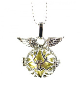 """""""Angel Wings"""" Fantasy Anti-Stress Bola Pregnancy Necklace – Metal Silver"""
