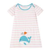 Baby Girl Dress ,Dorame Toddler Baby Girl Cartoon Print Embroidery Dress Stripe Dress Clothes