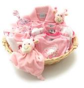 Baby Girl Layette gift basket hamper