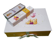 "Baby Keepsake Memory Box with Birth Cetificate Holder and 3 small Keepsake Boxes in Disney's ""Winnie the Pooh"" design"