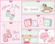 Baby Girl Keepsake Box Pink 6 Drawers Memories Gift Home Decor Newborn Christening Party Shower Birth