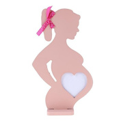 Broadroot Pregnant Heart Wooden Photo Frames for Wedding Small Baby Women Photo Frame