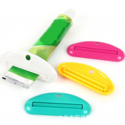 Bescita 2pcs Bathroom Home Tube Rolling Holder Squeezer Cartoon Toothpaste Dispenser