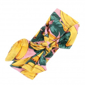 timeracing Lovely Fruit Flower Baby Girls Kids Bowknot Turban Headband Hair Accessories size Banana