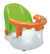 SARO - Multiposition Reclinable Bathroom Support for bathing your baby. With solid suction cups, ergonomic support and frontal opening. Suitable for babies over 6 months old. Available in 3 colours