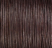 1mm Dark Brown Round Leather Cord Length 50 metres