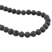 1PC Black Volcanic Lava Stone Beads Charms Jewellery Making Findings 8mm