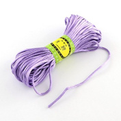 Angel Malone ® 1 x ± 20m x PLUM Quality Rattail Satin Cord - 2mm Thickness - GR8 4 KUMIHIMO - 24 Colours Jewellery Making Findings - UK SELLER