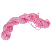 Visork Nylon Thread Chinese Knot Cord 1MM Bracelet Thread String Rope Beading Macrame Rattail 25M Bracelet Braided String Pink