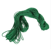 Visork Nylon Thread Chinese Knot Cord 1MM Bracelet Thread String Rope Beading Macrame Rattail 25M Bracelet Braided String Green