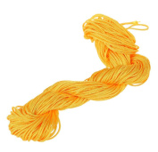 Visork Nylon Thread Chinese Knot Cord 1MM Bracelet Thread String Rope Beading Macrame Rattail 25M Bracelet Braided String Yellow