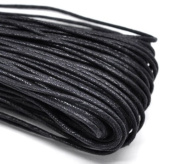 Waxed Irish Linen Necklace or Knotting Cord 2 mm Thick – Black, 1.5m