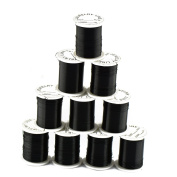 MagiDeal 10 Rolls Copper Wire Beading Thread String Cord for DIY Jewellery Making Black