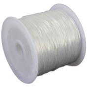 DaoRier Jewellery Nylon Thread and Clear Elastic Thread Elastic Thread 0.8 mm x 50 m Elastic Cord for DIY Bead Jewellery Craft Fishing