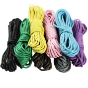 EDGEAM 8PCS Waxed Cotton Cord for Jewellery Making DIY Necklace Bracelet