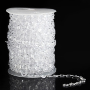 Bodhi2000® 30m Clear Crystal Like Beads By the Roll for Window Wedding Backdrop Curtain