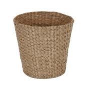 Household Essentials Cattail and Paper Waste Basket, Cream