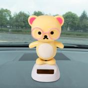 Amiley Welcome Cartoon Doll Solar Powered Dancing Swinging Animated Bobble Dancer Toy Car Decor
