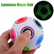 Voberry Rainbow Ball Magic Fidget Toy Puzzle Magic Rainbow Ball Puzzle Fun Fidget Toy For Kids/Adults