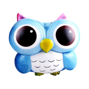 Spritumn 15cm Lovely Galaxy Owl Squishy Slow Rising Cream Scented Charm Gift Cell Phone Straps Decompression Toys Home Décor