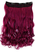 PRETTYSHOP 60cm 5 Clips one piece Full Head Clip In Hair Extensions Hairpiece Curled Wavy Heat-Resisting Different Colours