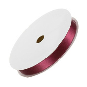 10mm Double Satin Dark Red Ribbon for Beading 7 Metres