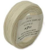 Trimits Waxed Linen Thread - Natural, 22m by Impex