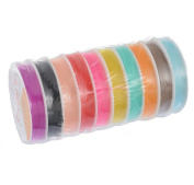 RuiChy 10 Rolls 10 Metres Beading Stretch Elastic Cord