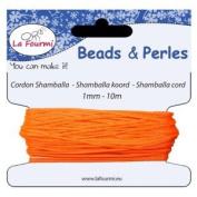 shamballa Cord-Fluorescent orange x 1 mm 10 m