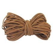 Pinzhi 2 mm Flat PU Leather Cords For Bracelet Neckacle Beading Jewellery Making 18 metre / 19 Yard(Brown)
