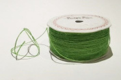 Lime Green Jute 1mm Cord by Bertie's Bows on a 200m Roll