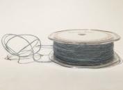 Steel Blue Jute 1mm Cord by Bertie's Bows on a 200m Roll