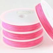 Beads4crafts Pink Tiger Tail Reel 0.45mm (100 Metres) TWTT1509