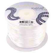 Dazzle It 1 mm Rattail Cord 100 yd Reel, White
