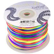 Dazzle It 1 mm Rattail Cord 100 yd Reel, Rainbow