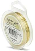 Beadalon 30-Yards Artistic 26-Gauge Non-Tarnish Wire, Brass