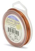 Beadalon 6.1m Artistic 18-Gauge Silver Plated Wire, Tangerine