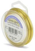 Beadalon 6.1m Artistic 18-Gauge Silver Plated Wire, Lemon