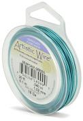 Beadalon Artistic Wire 18-Gauge Silver Plated Sea foam Green Wire, 6.1m