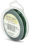 Beadalon 10-Yards Artistic 18-Gauge Wire, Green
